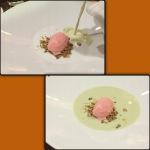 MATCHA - strawberry mint ice cream, green tea