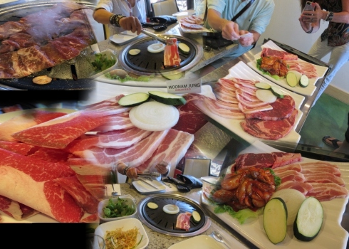 Korean BBQ Collage - we have the meats!